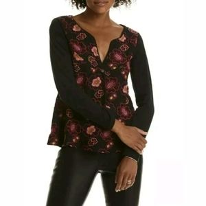 Odd Molly Anthropologie Lush Grace Top Crochet c8